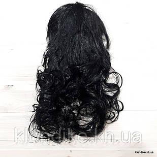 """Парик карнавальный """"Волна"""", 50 см, Цвет: Чёрный"""