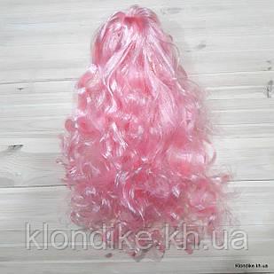 """Парик карнавальный """"Волна"""", 50 см, Цвет: Розовый"""