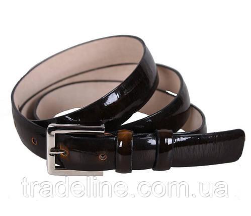 Женский узкий ремень Dovhani 49220-3640 115 см Темно-Коричневый, фото 2