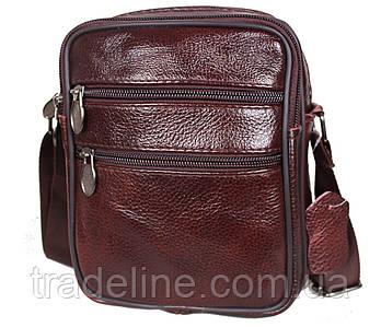 Мужская кожаная сумка Dovhani BonA2355-1647 Темно-Коричневая