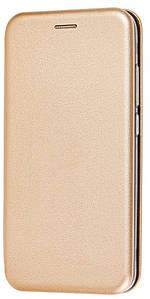 Чехол (книжка) премиум для Xiaomi Redmi Note 8золотая