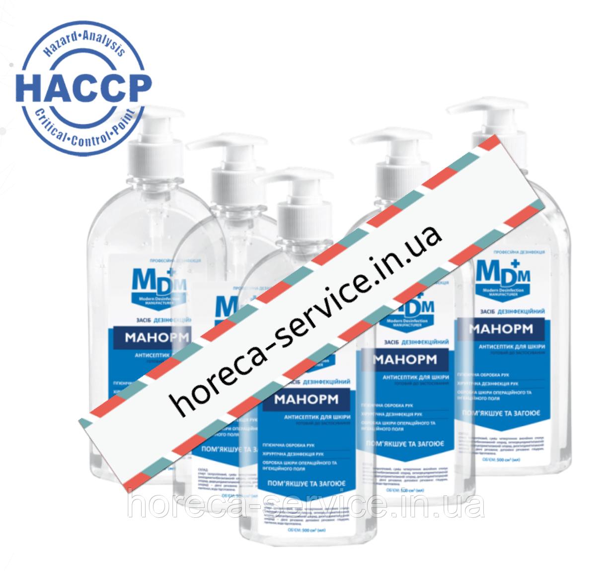Манорм спиртовое средство для гигиенической и хирургической дезинфекции рук с глицерином 0,5 л