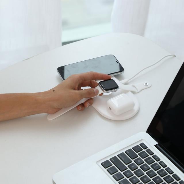 Беспроводная зарядка Baseus Wireless Charger Smart 3 в 1 WX3IN1-02 Белое