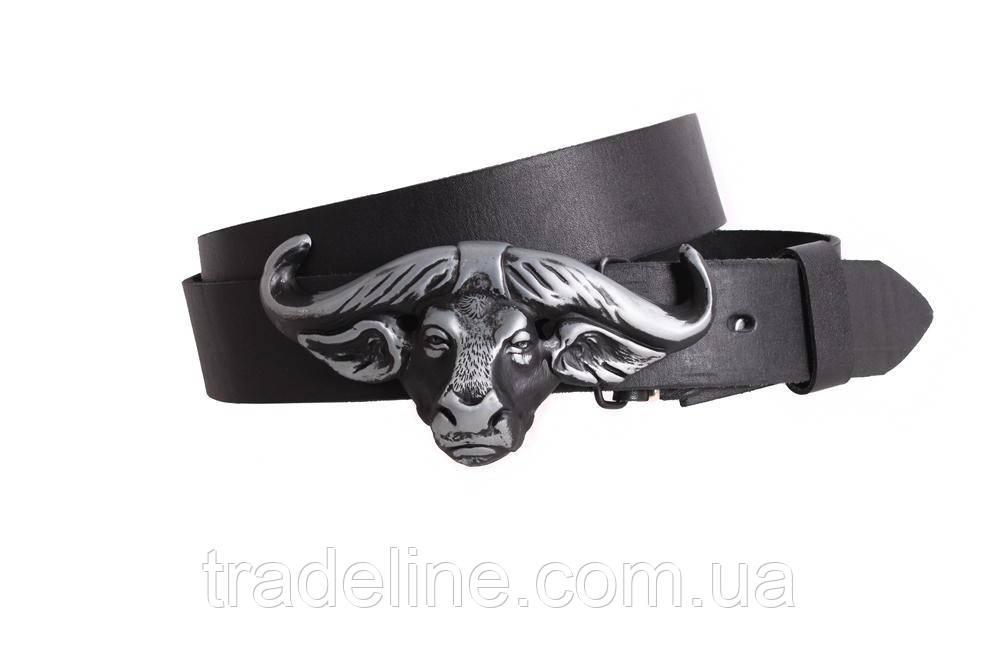 Мужской кожаный ремень Dovhani BLX49126651 120 см Черный