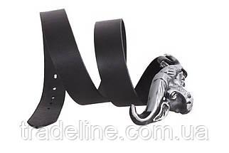Мужской кожаный ремень Dovhani BLX49126651 120 см Черный, фото 2