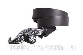 Мужской кожаный ремень Dovhani BLX49126651 120 см Черный, фото 3