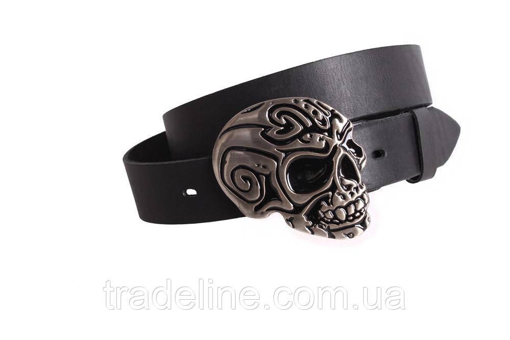 Мужской кожаный ремень Dovhani BLX49128653 120 см Черный