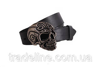 Мужской кожаный ремень Dovhani BLX49128653 120 см Черный, фото 2