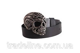 Мужской кожаный ремень Dovhani BLX49128653 120 см Черный, фото 3