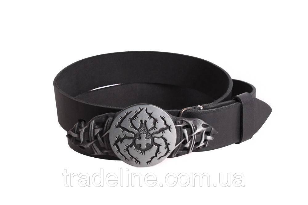 Мужской кожаный ремень Dovhani BLX49139664 120 см Черный