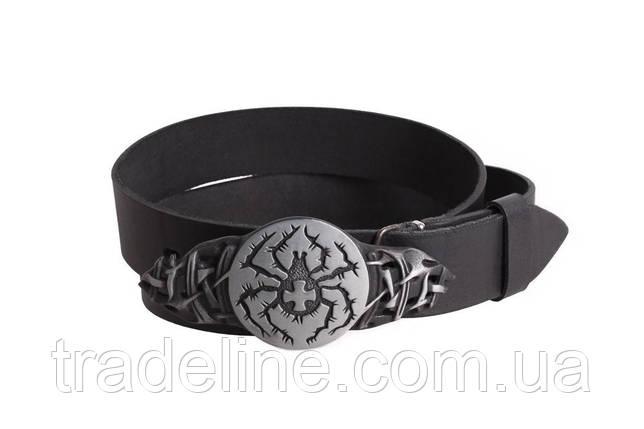 Мужской кожаный ремень Dovhani BLX49139664 120 см Черный, фото 2