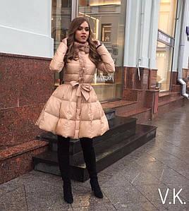 Пальто женское с объемной юбкой