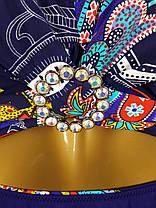 Купальник на большую грудь синий 3966 на 50 52 54  размер., фото 2