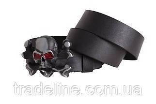 Мужской кожаный ремень Dovhani BLX49142667 120 см Черный, фото 3