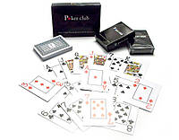 Карты игральные пластиковые (POKER CLUB)(9,2х6,5х2 см)