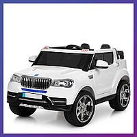 Детский электромобиль Джип BMW c пультом  Bambi M 3107 EBLR-1 белый   Дитячий електромобіль Бембі білий
