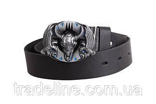 Мужской кожаный ремень Dovhani BLX49162683 120 см Черный, фото 2