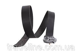 Мужской кожаный ремень Dovhani BLX49162683 120 см Черный, фото 3