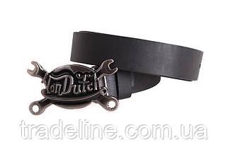 Мужской кожаный ремень Dovhani BLX49164685 120 см Черный, фото 3