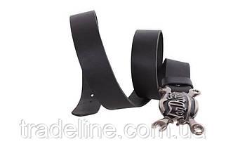 Мужской кожаный ремень Dovhani BLX49164685 120 см Черный, фото 2