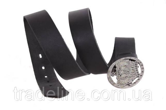 Мужской кожаный ремень Dovhani blx90267689 120 см Черный, фото 2