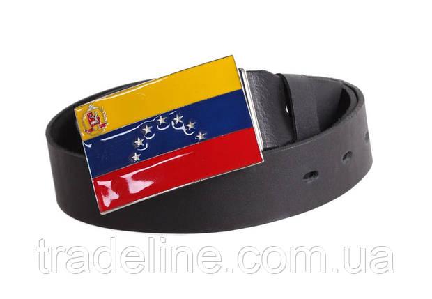 Мужской кожаный ремень Dovhani blx90298708 120 см Черный, фото 2