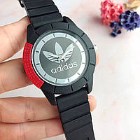 Мужские\ Женские наручные часы в стиле Adidas черные с красным\копия
