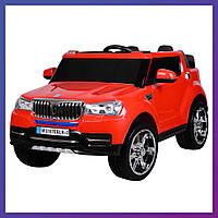 Детский электромобиль Джип BMW c пультом Bambi M 3107 EBLR-3 красный   Дитячий електромобіль Бембі червоний