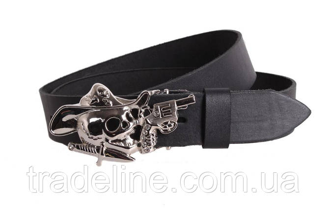 Мужской кожаный ремень Dovhani blx90300710 120 см Черный, фото 2