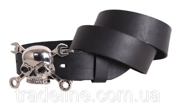 Мужской кожаный ремень Dovhani blx90301711 120 см Черный, фото 2