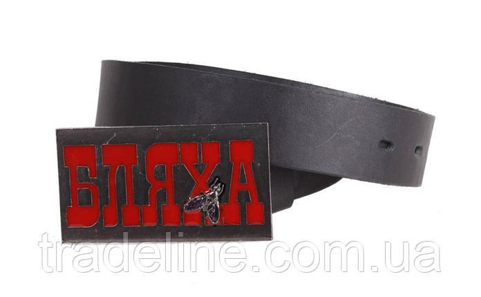 Мужской кожаный ремень Dovhani blx90308715 120 см Черный, фото 2