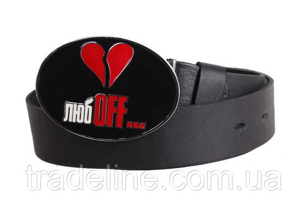 Мужской кожаный ремень Dovhani blx90313717 120 см Черный, фото 2