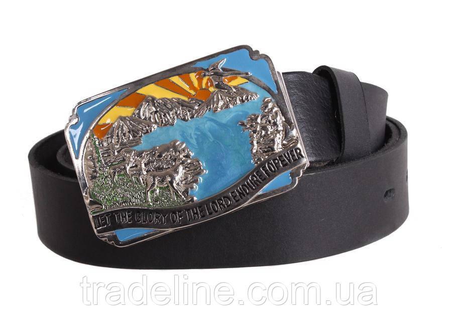 Мужской кожаный ремень Dovhani blx90314718 120 см Черный