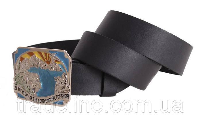 Мужской кожаный ремень Dovhani blx90314718 120 см Черный, фото 2