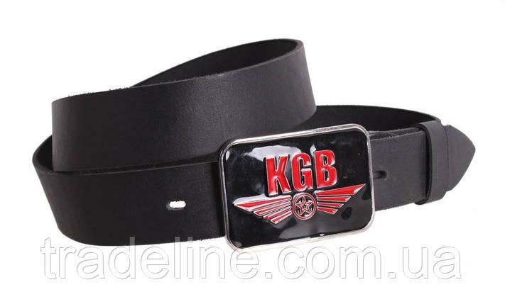 Мужской кожаный ремень Dovhani blx90328735 120 см Черный, фото 2
