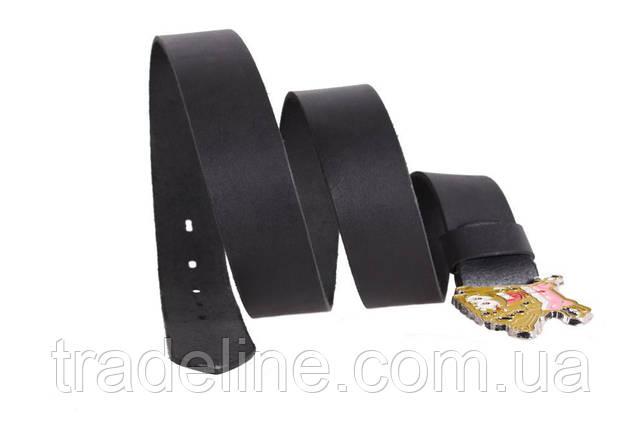 Мужской кожаный ремень Dovhani blx90337741 120 см Черный, фото 2