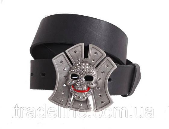 Мужской кожаный ремень Dovhani blx90338742 120 см Черный, фото 2