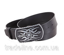 Мужской кожаный ремень Dovhani blx90370-22753 120 см Черный, фото 3
