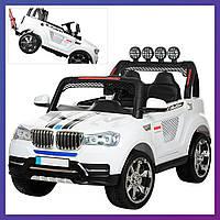 Детский электромобиль Джип BMW c пультом Bambi M 3118 EBLR-1 белый   Дитячий електромобіль Бембі білий