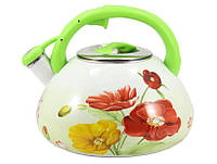 Емальований чайник Zauberg 1L 3,2л green