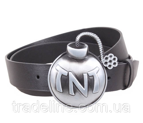 Мужской кожаный ремень Dovhani BLX5163-97785 120 см Черный, фото 2