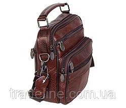 Мужская кожаная сумка Dovhani Bon101-3LCoffee790 Коричневая, фото 3