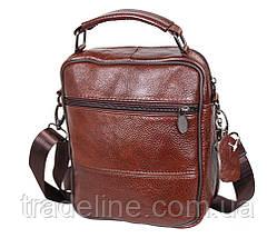 Мужская кожаная сумка Dovhani Bon101-3LCoffee790 Коричневая, фото 2