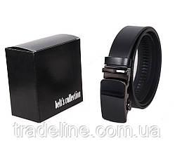 Мужской кожаный ремень Dovhani MOR1-00791 115-125 см Черный, фото 3