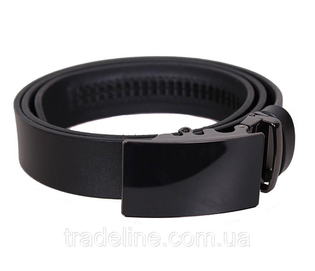 Мужской кожаный ремень Dovhani MOR1-01792 115-125 см Черный