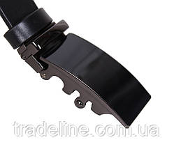 Мужской кожаный ремень Dovhani MOR1-01792 115-125 см Черный, фото 2