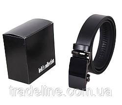 Мужской кожаный ремень Dovhani MOR1-01792 115-125 см Черный, фото 3