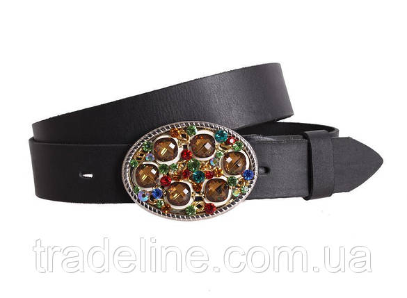 Женский кожаный ремень Dovhani blx90375797 115-125 см Черный, фото 2