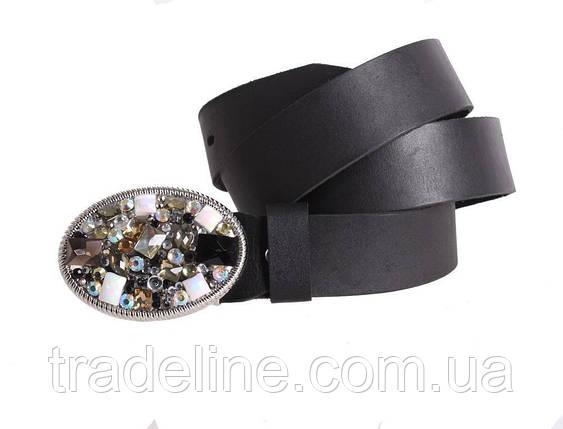 Женский кожаный ремень Dovhani blx90376798 115-125 см Черный, фото 2