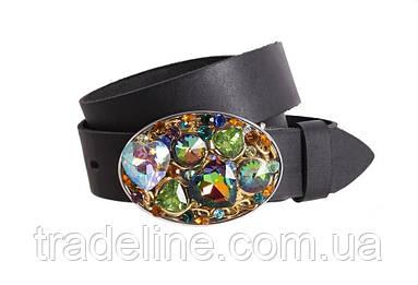 Женский кожаный ремень Dovhani blx90378799 115-125 см Черный